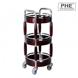3 layers Wine and liquor trolley 1pc pack