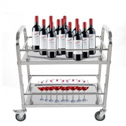 Three Layers Stainless Steel Beverage Service Cart 1pc pack