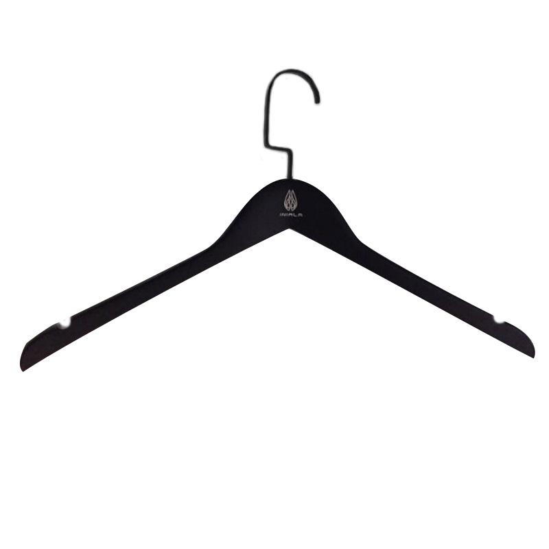 Black Wooden Suit Hanger 50pcs pack