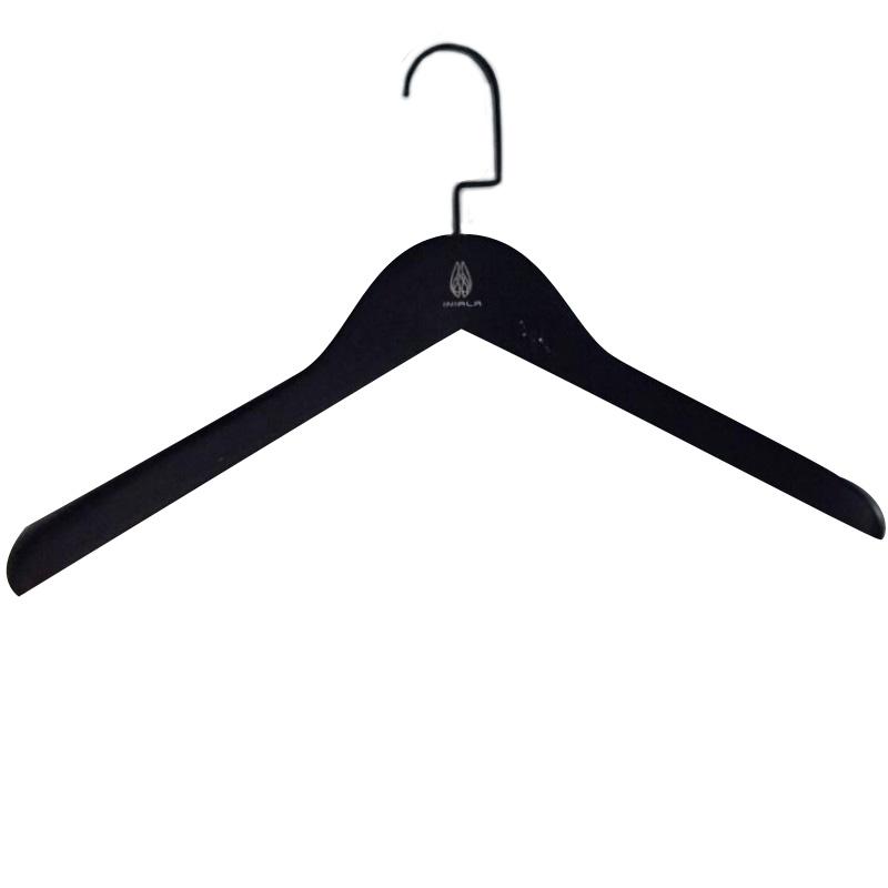 Black Schima Superba Wooden Suit Hanger 30pcs pack