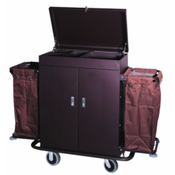 Iron Spraying in Matt Finish Housekeeping Cart with Double Canvas Pockets 1pc pack