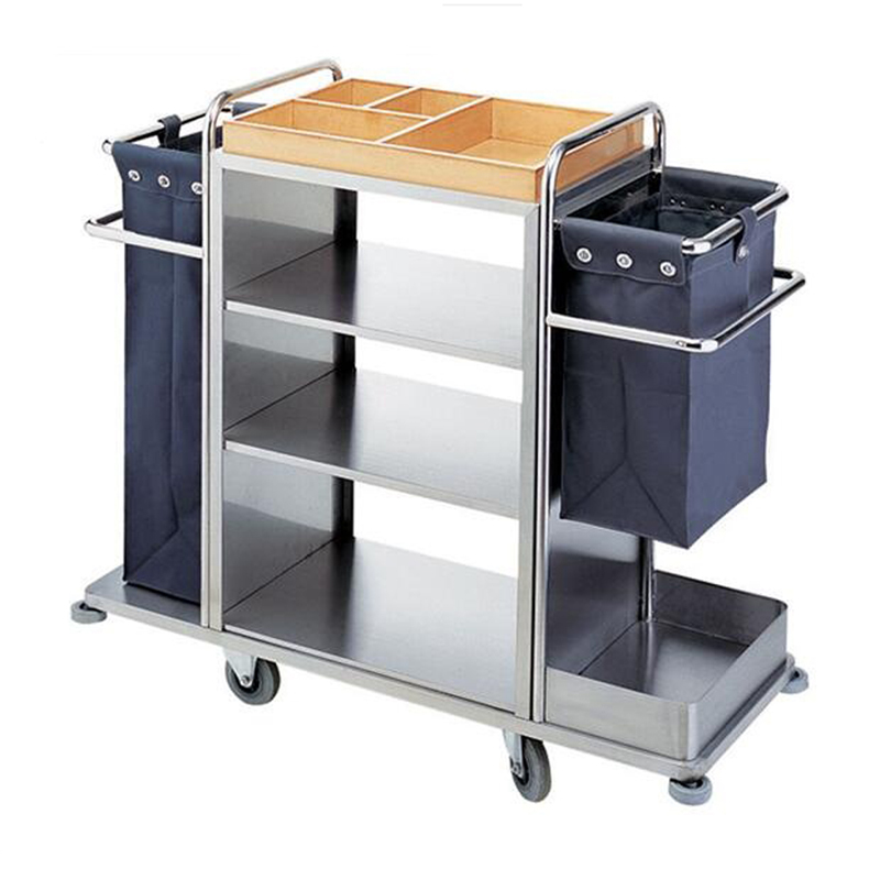 3 Layers Stainless Steel Housekeeping Cart