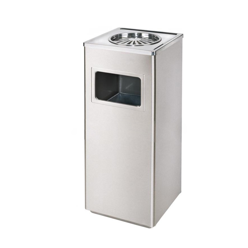 Brushed Stainless Steel Indoor Dustbin 1pc pack