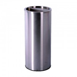 Brushed 201 Stainless Steel Rubbish Bin 1pc pack
