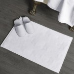 32S Four Star Hotel Cotton Plain Weave Floor Towel 50pcs pack