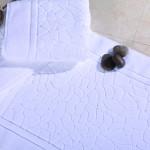 5 Star Hotel 32S Cotton Jacquard Customized Logo Floor Towel Bath Mat 50pcs pack
