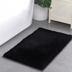 5 Star Hotel Cotton Black Long Haired Bath Mat 15pcs pack