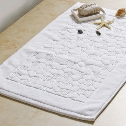 5 Star Hotel Cotton Floor Towel Bath Mat with Cobble Pattern 50pcs pack
