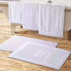 5 Star Hotel Cotton Floor Towel Bath Mat with Feet Pattern 50pcs pack