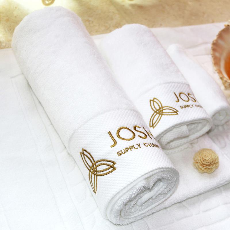 16S Dobby Jacquard Comb Cotton Bath Towel 40pcs pack