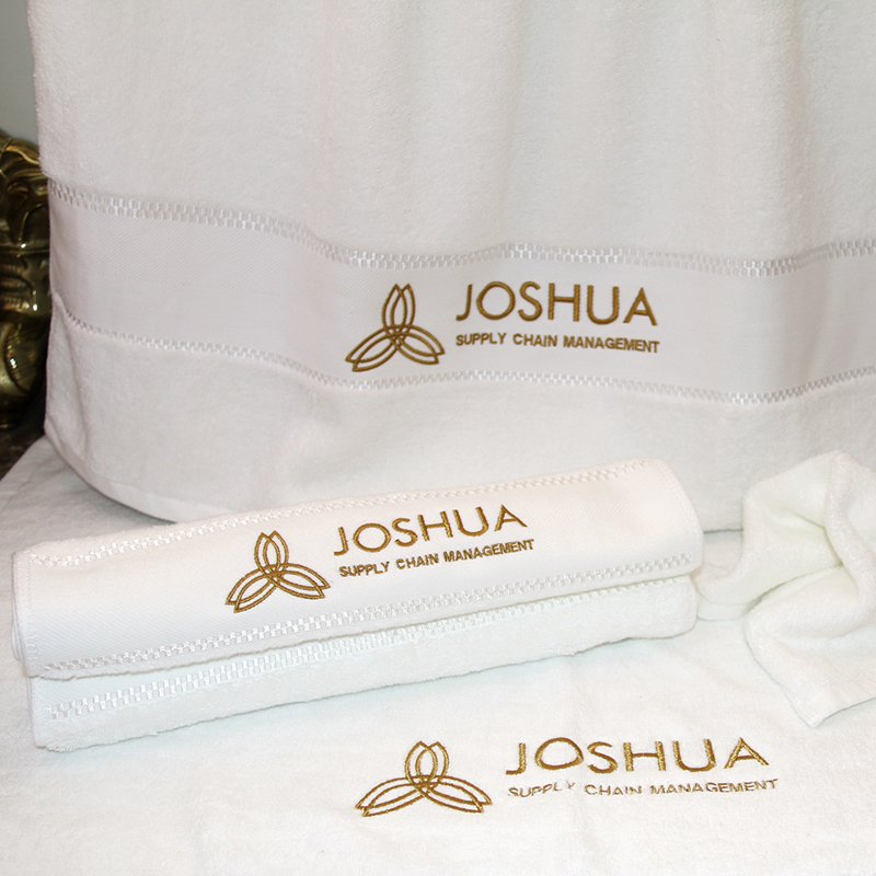 JOSHUA 16S Bright Sateen Combed Cotton Bath Towel 40pcs pack