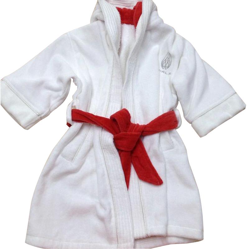 a4dc0546a4 5 Star Hotel Kids Dobby Cotton Velvet hooded Bathrobe 20pcs pack