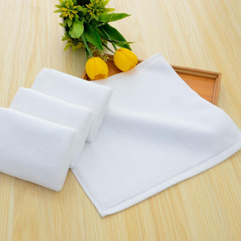Cotton 21S Double Yarn Plain Weave Face Towel 300pcs pack