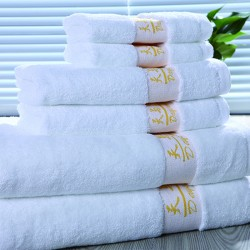 Star Hotel 16S Cotton Yarn Dyed Dobby Jacquard Hand Towel 150pcs pack