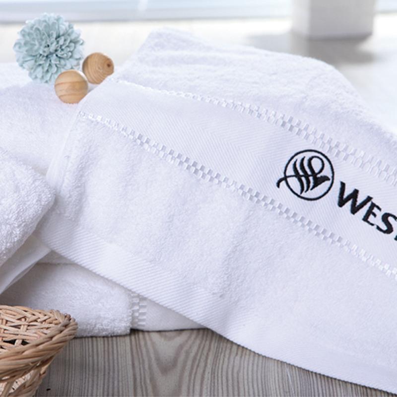 JOSHUA 16S Cotton Dobby Border Bright Satin Towel
