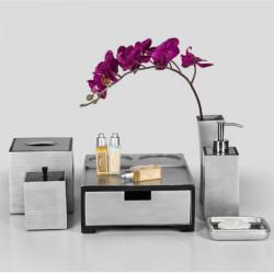 Star Hotel Elegant Gray Resin Guestroom Amenities Set Series