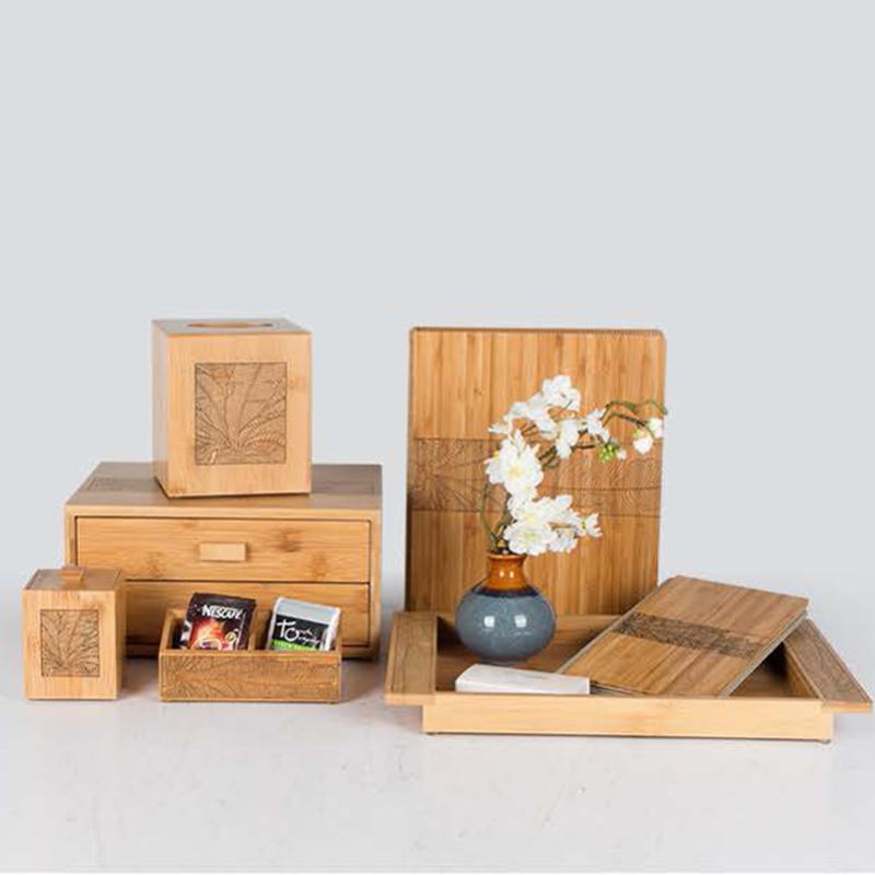 Star Hotel Natural Wood Guestroom Amenities Set Series