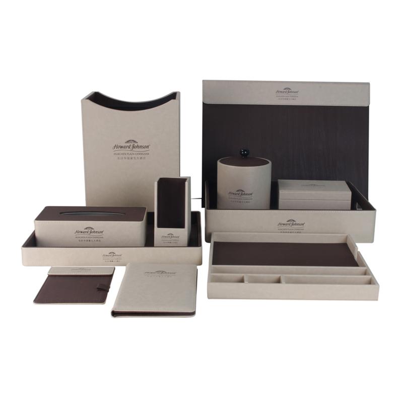 Classic Beige Marble Grain PU Leather Set 11pcs set