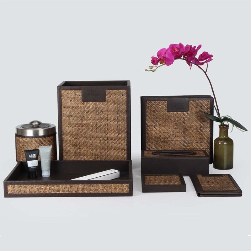 Southeast Asian Style Woven Rattan Handmade Guest Room Amenities Series
