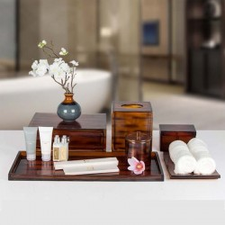 Star Hotel Classic Brown Resin Guestroom Amenities Set Series