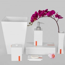 Star Hotel Pure White Resin Guestroom Amenities Set Series