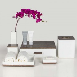 Star Hotel Classic White Resin Guestroom Amenities Set