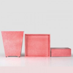 Star Hotel Natural Wood Guestroom Amenities Set Series in Rose Pink