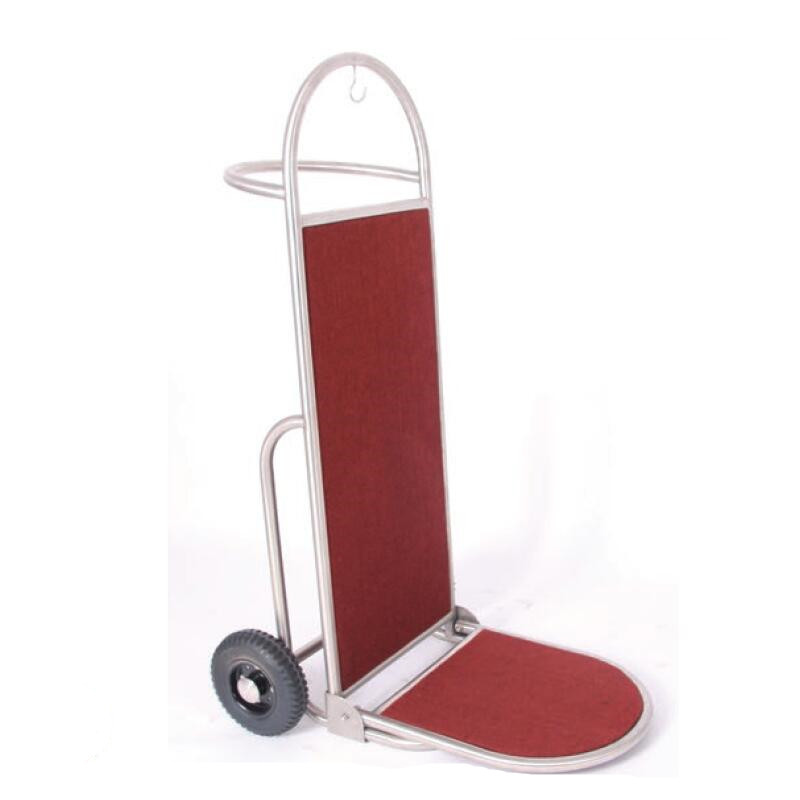 Classic Bell Boy Trolley with 8 inch Rubber Wheels 2pcs pack