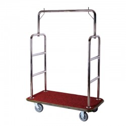 Simple Stainless Steel Luggage Cart 1pcs pack