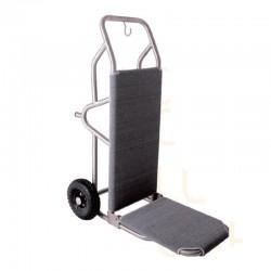 Elegant Gray Stainless Steel Lobby Luggage Cart 2pcs pack