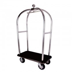 Polish Stainless Steel Luggage Cart 1pc pack