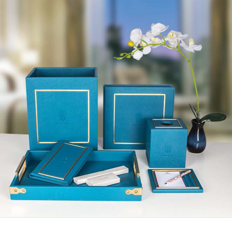 Business Peacok PU Leather Pasting Golden Frame
