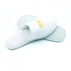 Cotton Terry Cloth Closed Toe Slippers 100pairs pack