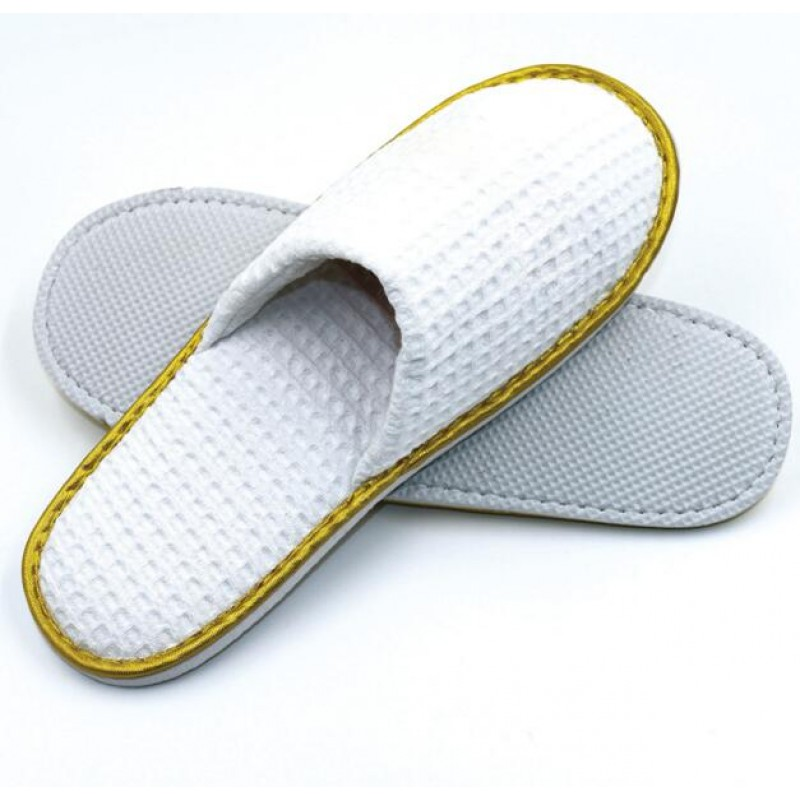 Five Star Hotel Large Check Waffle Open Toe Slipper 100pairs pack
