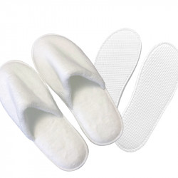 Super Soft Fabric Washable Odorless IXPE Hotel Slippers