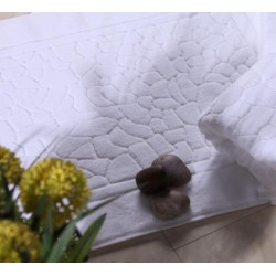 4 Star Hotel Cotton Jacquard Cobble Pattern Floor Towel 50pcs pack