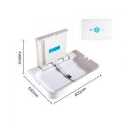 Folding Anti Bacterial Protection Public Commercial Washroom PP Diaper Baby Changing Station 1pcs pack