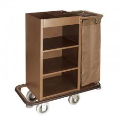 Light Brown Single Pocket Baking Iron Housekeeping Cart 1pc pack