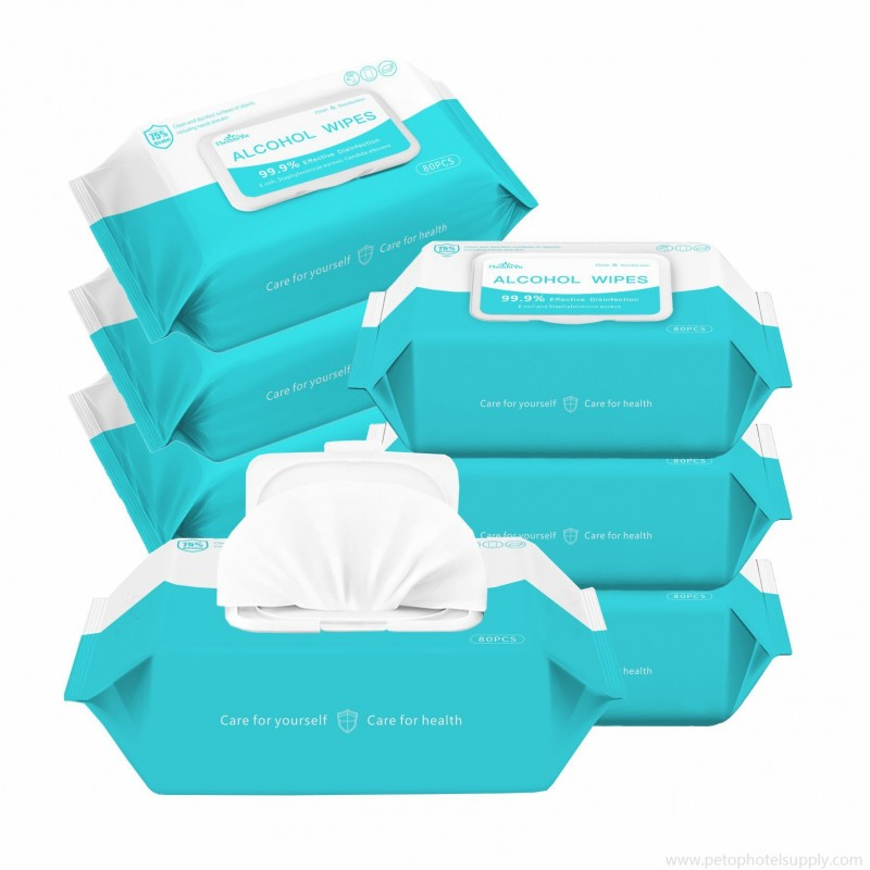 Antibacterial Alcohol Wipes for Home Office Travel Use