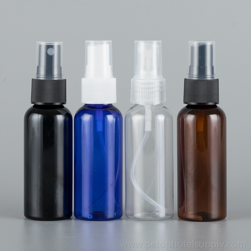 50ml Portable Empty Spray Bottles PET Travel Bottles for Essential Oils